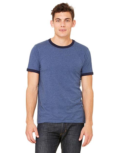 Bella + Canvas 3055C Men Jersey Short-Sleeve Ringer T-Shirt at GotApparel