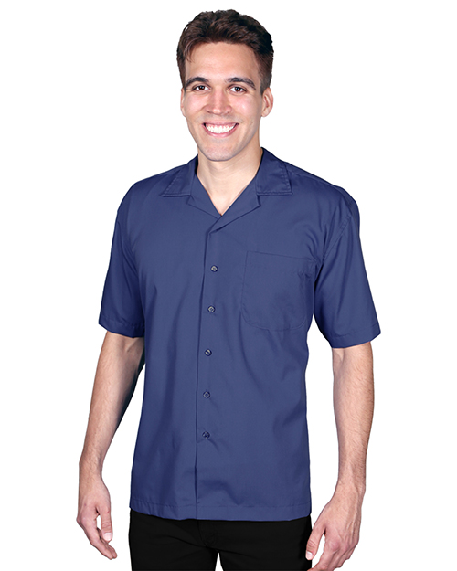 Blue Generation BG3100 Men S SHORT SLEEVE SOLID CAMPSHIRT 65/35 POLY/ COTTON  -  BLACK 2 EXTRA LARGE SOLID at GotApparel