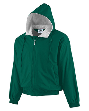 Augusta 3280 Men Hooded Fleece Lined Jacket at GotApparel