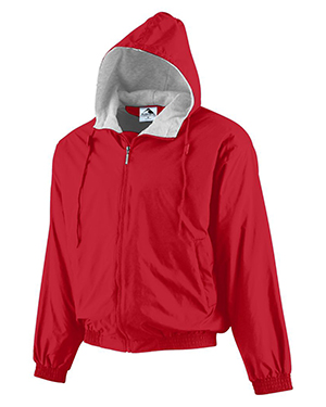 Augusta 3281 Boys Hooded Taffeta Jacket With Drawcord at GotApparel