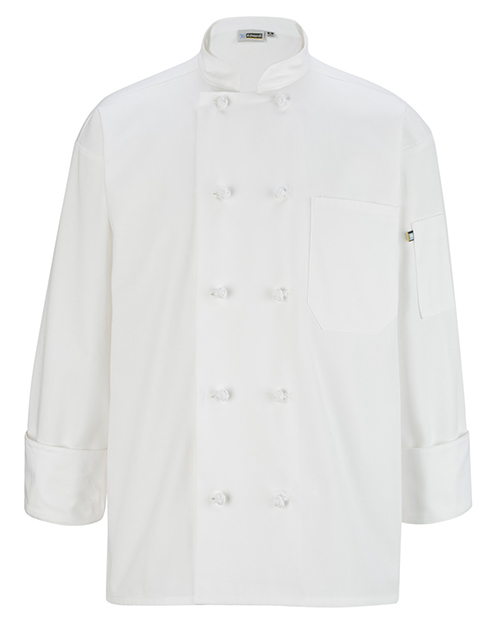 Edwards 3302 Unisex 10 Knot Button Long-Sleeve Chef Coat at GotApparel