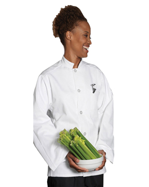 Edwards 3311 Women Single Breasted Server Coat With 3-Pocket at GotApparel