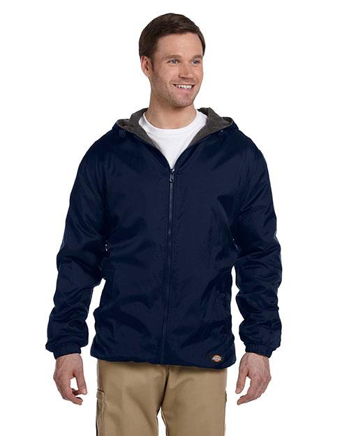 Dickies Workwear 33237 Men Fleece-Lined Hooded Nylon Jacket at GotApparel