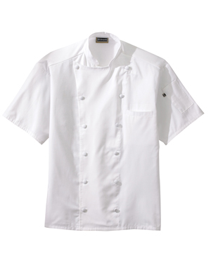 Edwards 3331 Men 12 Button Short-Sleeve Chef Coat With Mesh at GotApparel