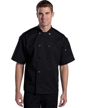 Edwards 3333 Unisex Ten Button Short-Sleeve Back Mesh Chef Coat at GotApparel