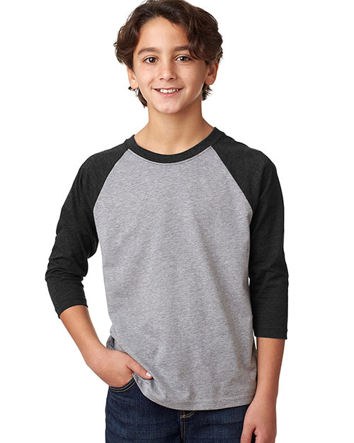 Next Level 3352 Boys Cvc 3/4-Sleeve Raglan Tee at GotApparel