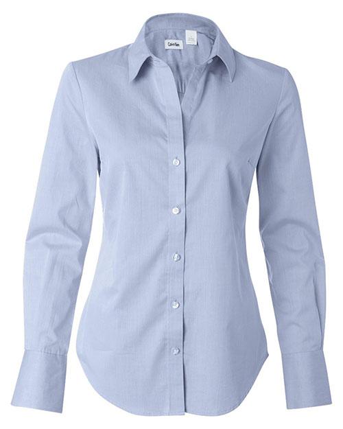 Calvin Klein 13CK028 Women Pure Finish Cotton Shirt at GotApparel
