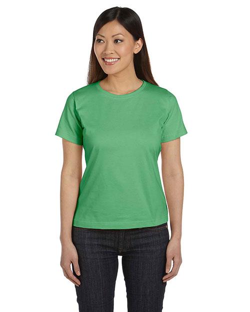 Lat 3580 Women Ringspun Crew Neck T-Shirt at GotApparel