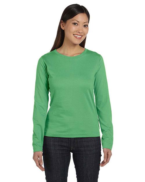 LAT 3588 Women Ringspun Long-Sleeve T-Shirt at GotApparel