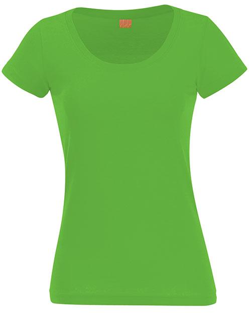 Lat 3604 Adult Fine Jersey Deep Scoop Neck T-Shirt at GotApparel