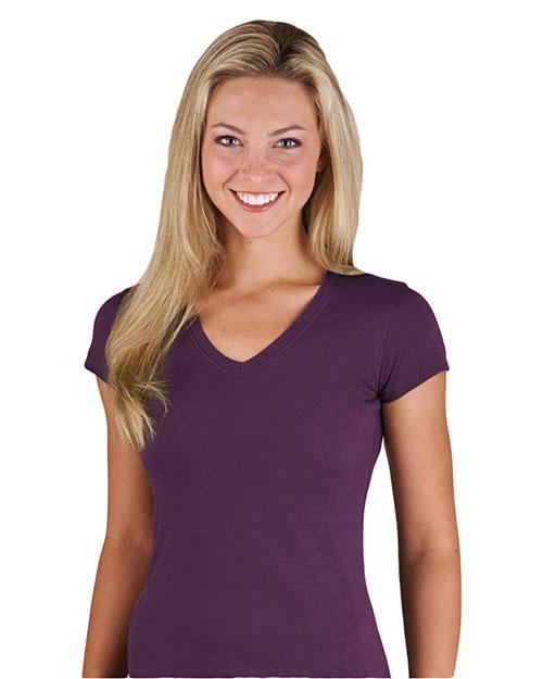 Lat 3607 Women Fine Jersey Longer Length T-Shirt at GotApparel