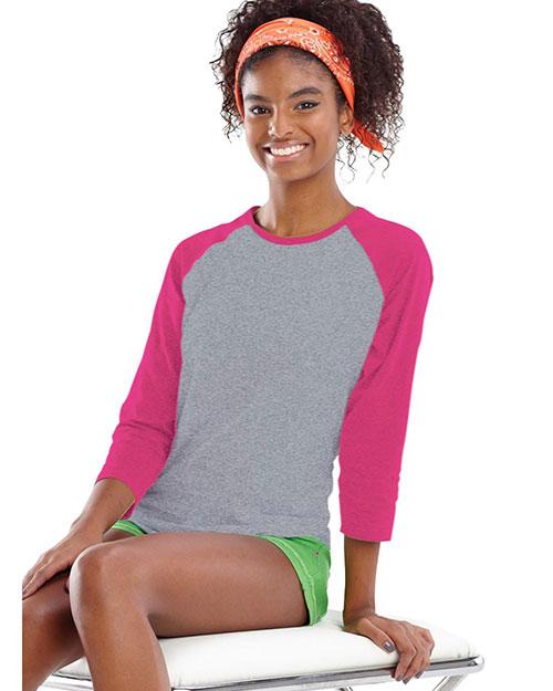 Lat 3630 Women 3/4-Sleeve Baseball T-Shirt at GotApparel