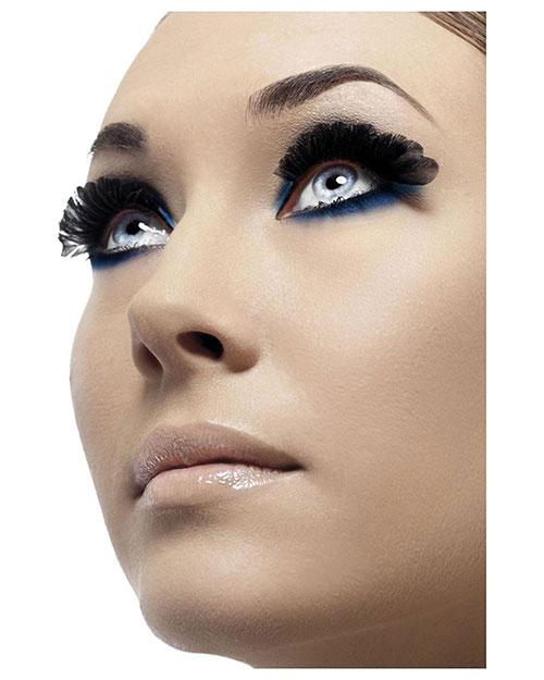 Smiffys 36522 Women Feather Eyelashes, Black at GotApparel