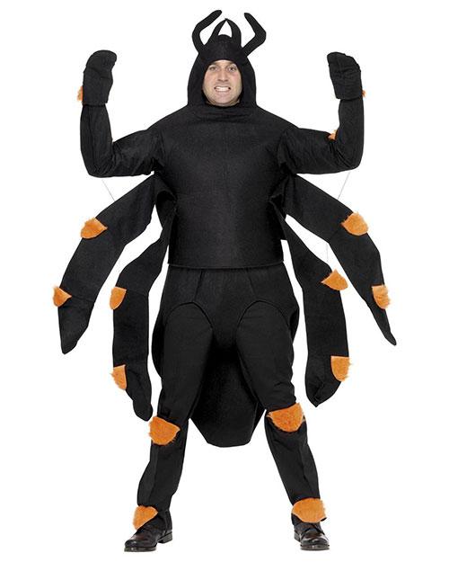 Smiffys 36572 Men Spider Costume, Black at GotApparel