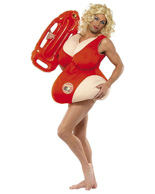 Smiffys 36735 Unisex Baywatch Costume, Red at GotApparel