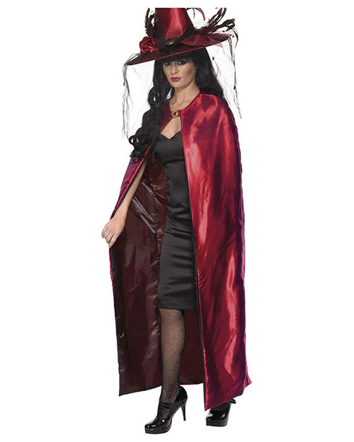 Smiffys 36872 Women Reversible Cape, Red & Black at GotApparel