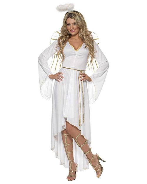 Smiffys 36977L Women Angel Costume, White at GotApparel