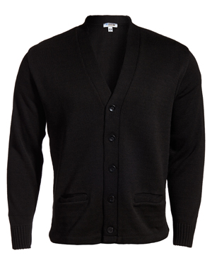 Edwards 383 Women V-Neck Button Heavyweight Acrylic Sweater at GotApparel