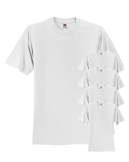 Fruit Of The Loom 3931 Men 5 Oz. 100% Heavy Cotton Hd T-Shirt 5-Pack at GotApparel