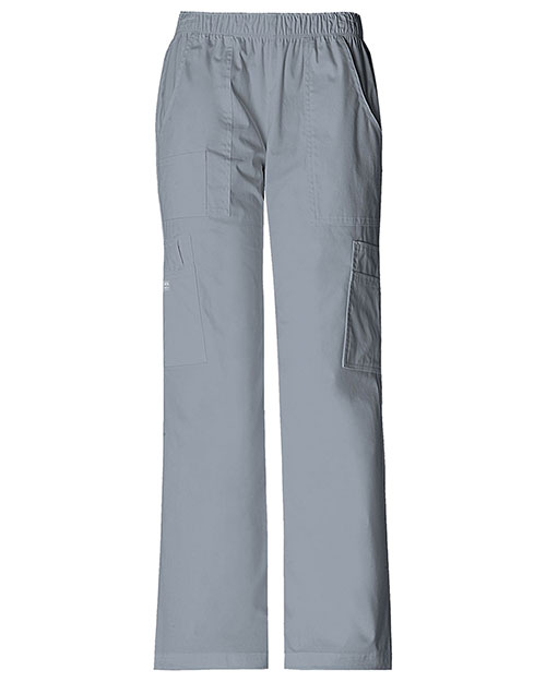 Cherokee Workwear 4005 Women Mid Rise Pull-On Pant Cargo  at GotApparel