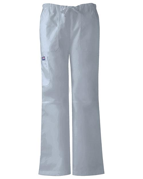Cherokee Workwear 4020P Women Low Rise Drawstring Cargo Pant at GotApparel