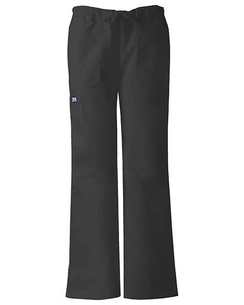 Cherokee Workwear 4020 Women Low Rise Drawstring Cargo Pant at GotApparel
