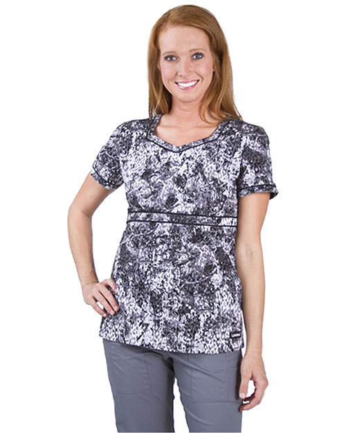 Landau 4044 Women Banded Sweetheart Tunic at GotApparel
