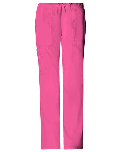 Cherokee Workwear 4044P Women Mid Rise Drawstring Cargo Pant at GotApparel