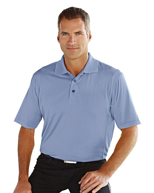 Tri-Mountain 405 Men Glendale Ultracool Jaquard Knit Short-Sleeve Golf Shirt at GotApparel