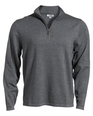 Edwards 4072 Men 1/4-Zip Fine Gauge Sweater at GotApparel