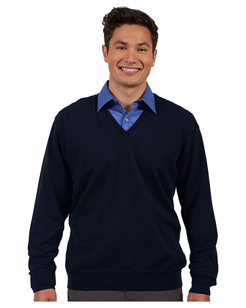 Edwards 4090 Unisex Fine Gauge V-Neck Sweater at GotApparel