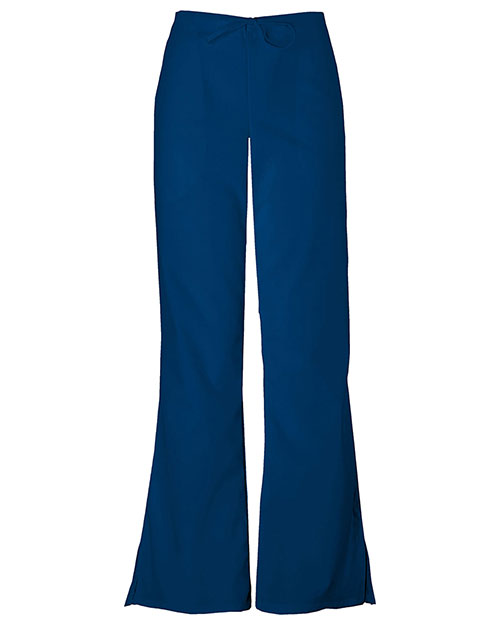 Cherokee Workwear 4101P Women Natural Rise Flare Leg Drawstring Pant at GotApparel