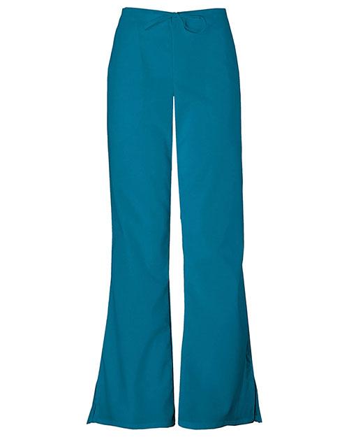 Cherokee Workwear 4101T Women Natural Rise Flare Leg Drawstring Pant at GotApparel