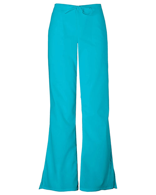 Cherokee Workwear 4101T Women Natural Rise Flare Leg Drawstring Pant at GotApparel