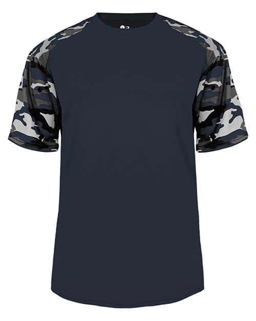 Badger 4141 Mens Camo Shoulder Tee at GotApparel