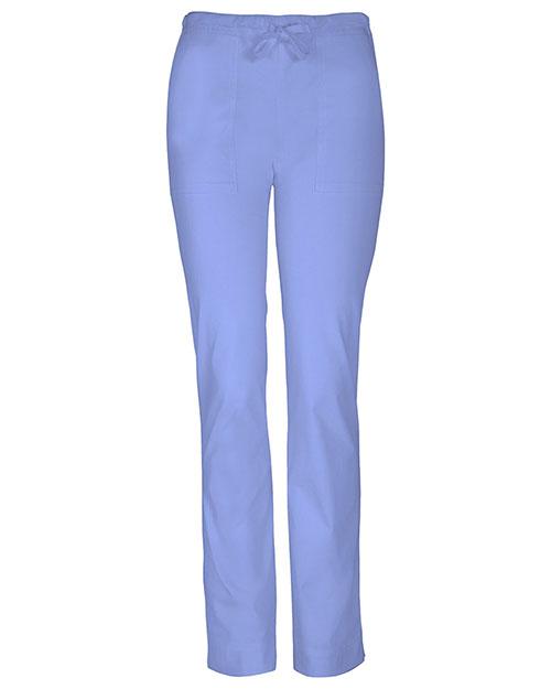 Cherokee Workwear 4203P Women Mid Rise Slim Drawstring Pant at GotApparel