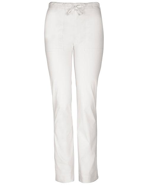 Cherokee Workwear 4203 Women Stretch Mid Rise Slim Drawstring Pant at GotApparel