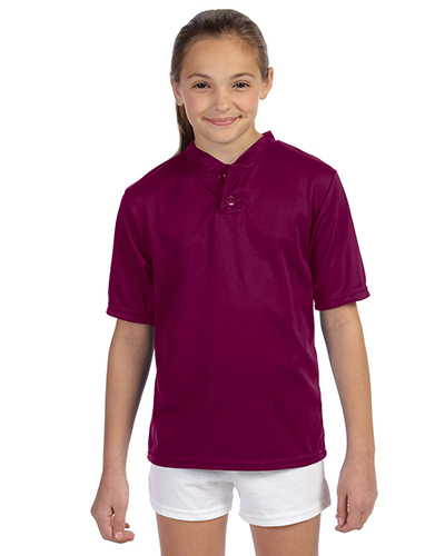 Augusta 427 Boys Wicking 2-Button Jersey at GotApparel