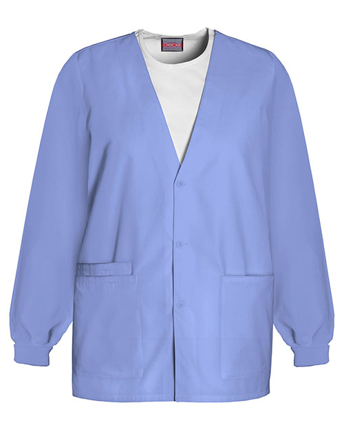 Cherokee Workwear 4301 Women Cardigan Warm-Up Jacket at GotApparel