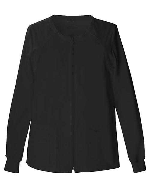 Cherokee Workwear 4315 Women Zip Front Warm-Up Jacket at GotApparel