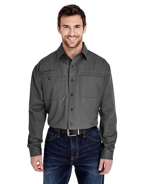 Dri Duck 4342 Men Mason Long-Sleeve Work Shirt at GotApparel