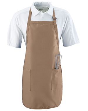 Augusta 4350 Unisex Full Length Apron With Pockets at GotApparel