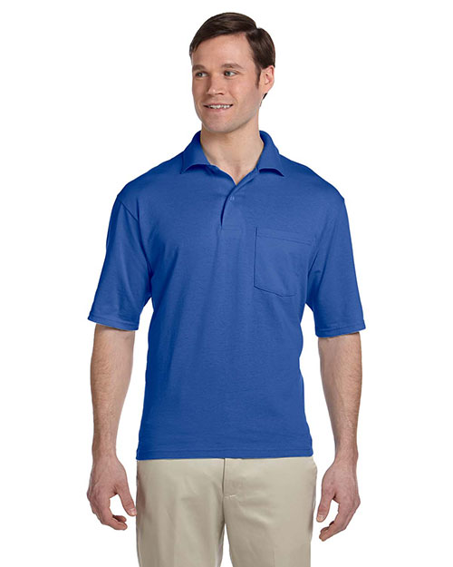 Jerzees 436P Men 50/50 Jersey Pocket Polo With Spotshield at GotApparel