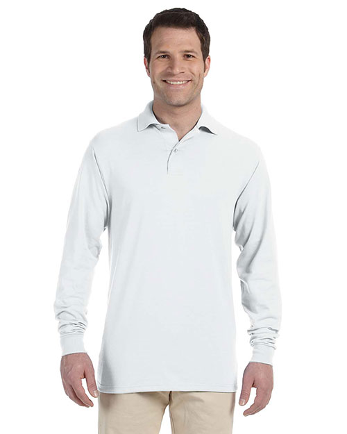 Jerzees 437ML Men 5.6 Oz. 50/50 Long-Sleeve Jersey Polo With Spotshield at GotApparel
