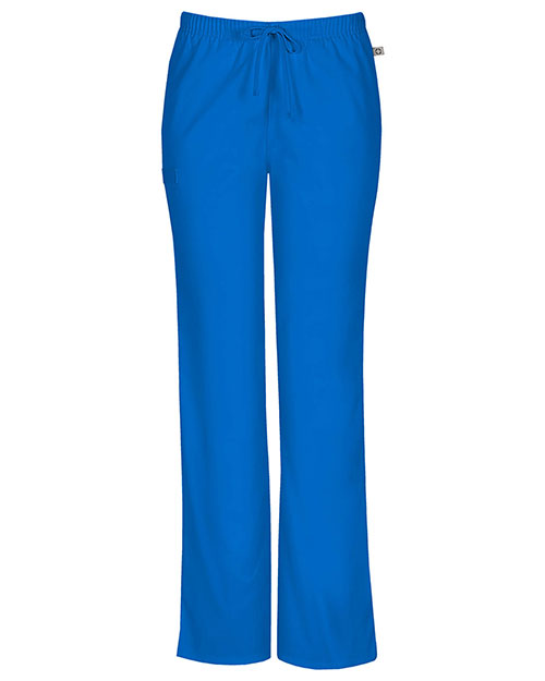 Cherokee Workwear 44101A Women Mid Rise Moderate Flare Drawstring Pant at GotApparel
