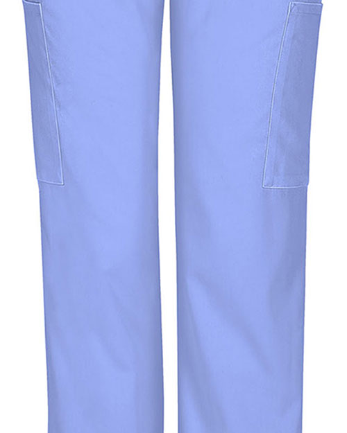 Cherokee Workwear 44200A Women Mid Rise Straight Leg Elastic Waist Pant at GotApparel