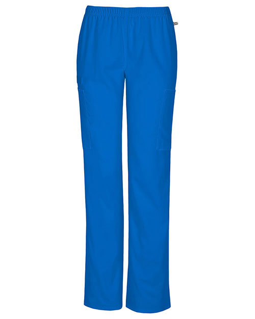 Cherokee Workwear 44200A Women Mid Rise Straight Leg Elastic Waist Pant at GotApparel