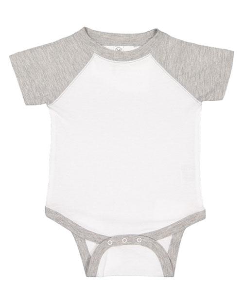 Rabbit Skins 4430 Toddler Vintage Fine Jersey Baseball Bodysuit at GotApparel