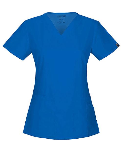 Cherokee Workwear 44700A Women V-Neck Top at GotApparel