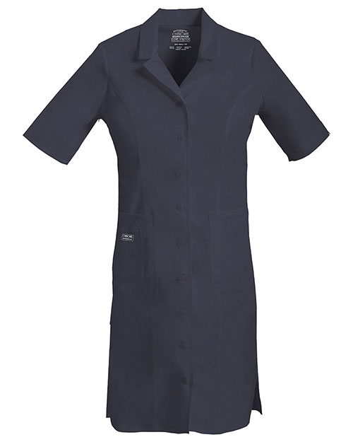 Cherokee Workwear 4508 Women Button Front Dress at GotApparel